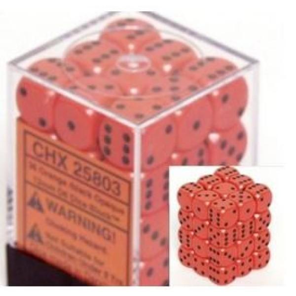 Chessex - D6 12mm Opaque Orange / Black