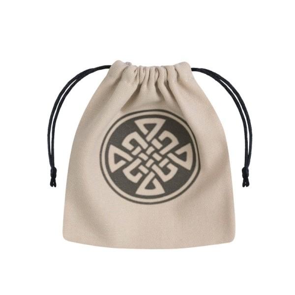 Celtic Dice Bag - Beige & Black