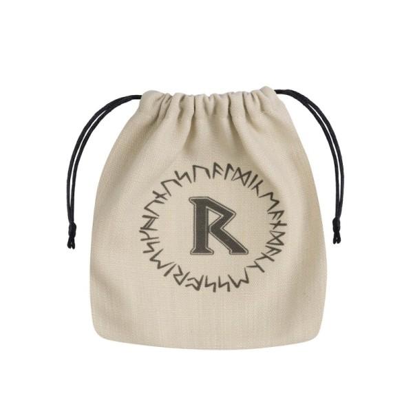 Runic Dice Bag - Beige & Black