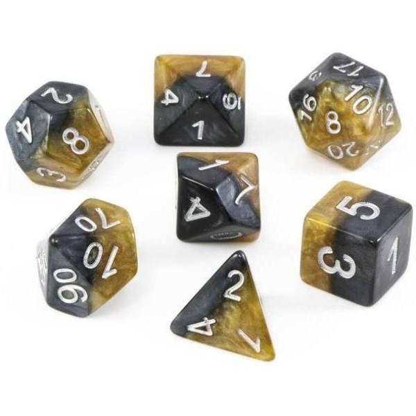 Halfsies RPG Dice - DaVinci Gold Set