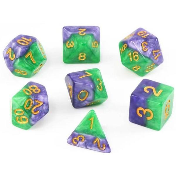 Halfsies RPG Dice - Gamma Set