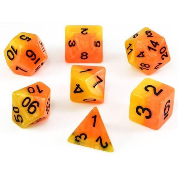Halfsies RPG Dice - Phoenix Set