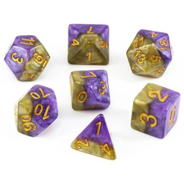Halfsies RPG Dice - Queens Dice Set