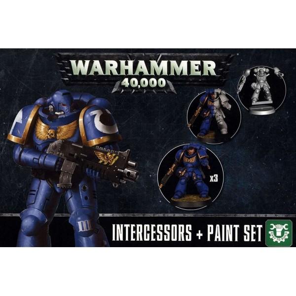 Games Workshop - Citadel - Warhammer 40k Intercessors and Paint Set