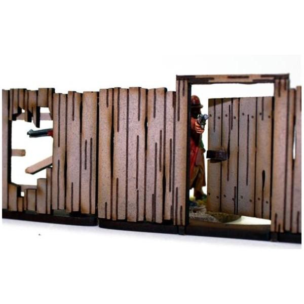 4Ground Terrain - Wild West - Panel Fencing with Gates