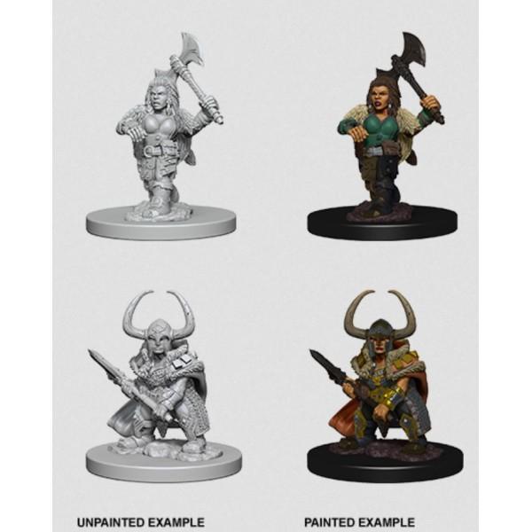 D&D - Nolzur's Marvelous Unpainted Minis: Dwarf Female Barbarian