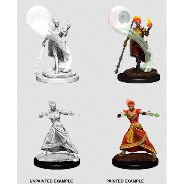 D&D - Nolzur's Marvelous Unpainted Minis: Fire Genasi Female Wizard