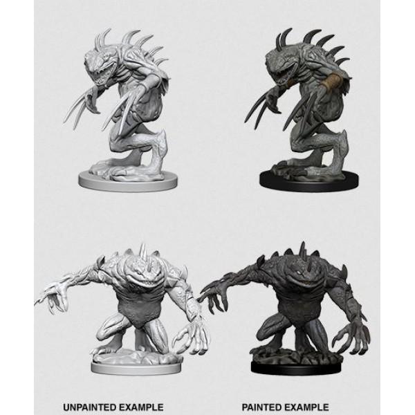 D&D - Nolzur's Marvelous Unpainted Minis: Grey Slaad & Death Slaad