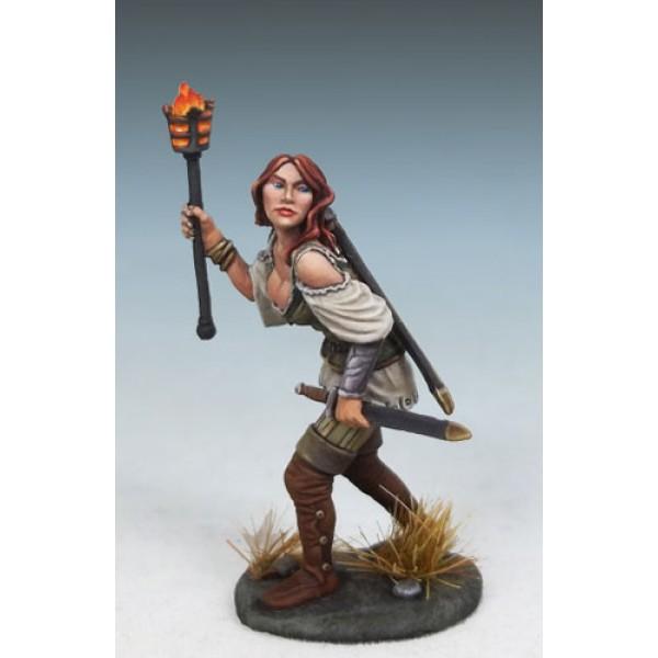 Dark Sword Miniatures - DiTerlizzi Masterworks - Raven Switchsword, Female Rogue