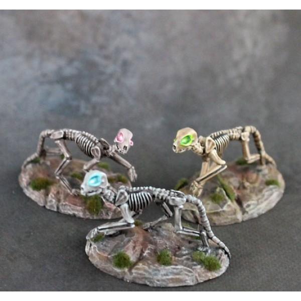 Dark Sword Miniatures - Visions in Fantasy - Undead Kitty Cats of Doom x 3