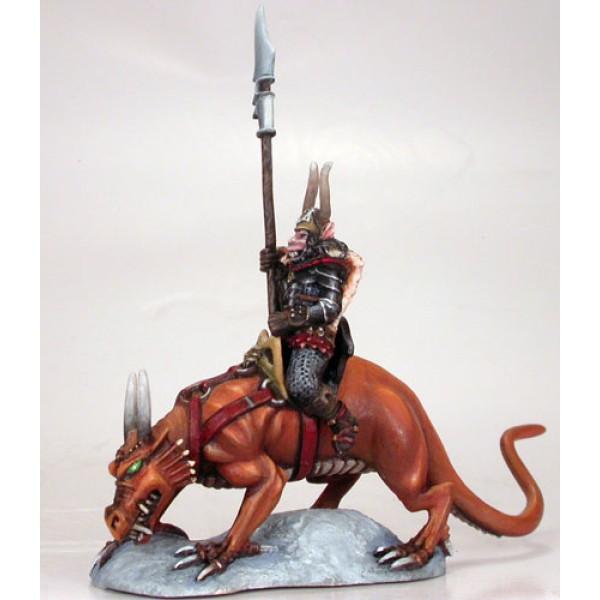 Dark Sword Miniatures - Elmore Masterworks - Chaos Warrior on Lizard Mount