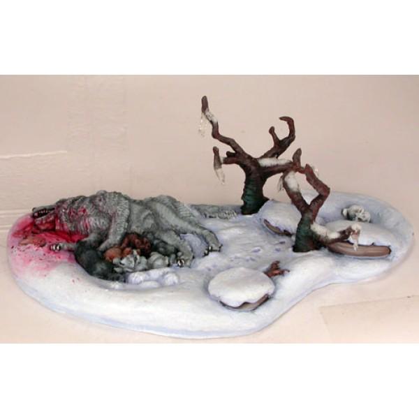 Dark Sword Miniatures - George R. R. Martin Masterworks - Dire Wolf Diorama