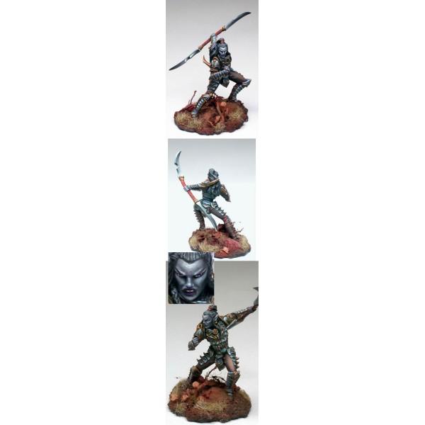 Dark Sword Miniatures - Visions in Fantasy - Male Dark Elf Warrior w/ Double Bladed Sword