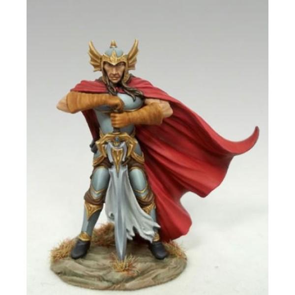 Dark Sword Miniatures - Visions in Fantasy - 10th Anniv Male Fighter w/ Two Handed Dark Sword