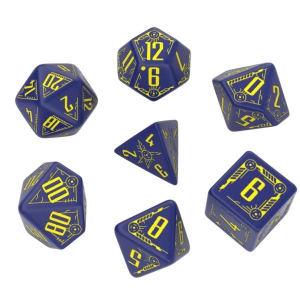 Q-Workshop - Galactic Navy & Yellow Dice Set (7)