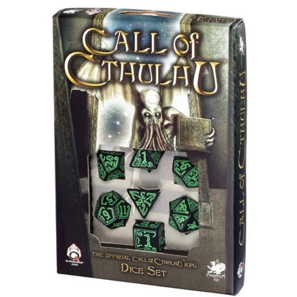 Call Of Cthulhu - Black & Green RPG Dice Set