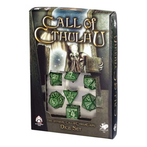 Call Of Cthulhu - Green - Glow-in-the-Dark RPG Dice Set