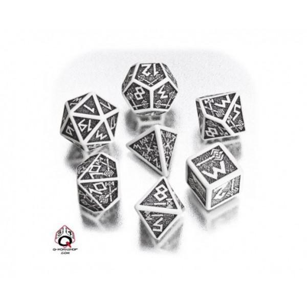 Q-Workshop - White-black Dwarven dice set