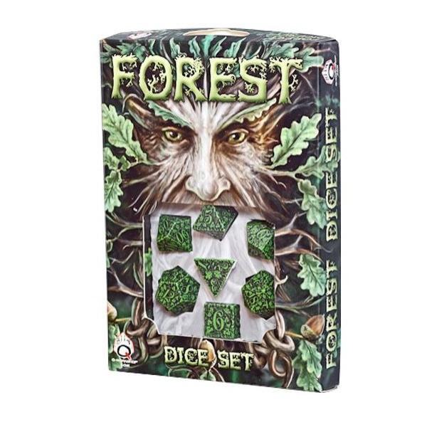 Q-Workshop - Green-black Forest dice set