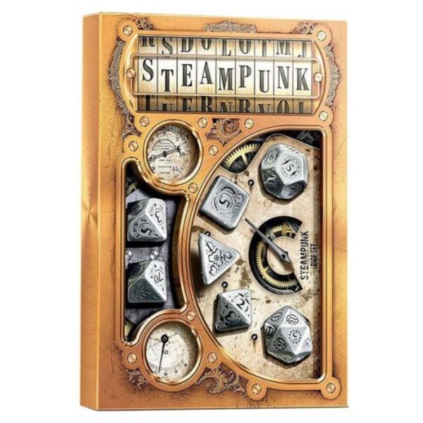Q-Workshop - Metal-black Steampunk Dice Set
