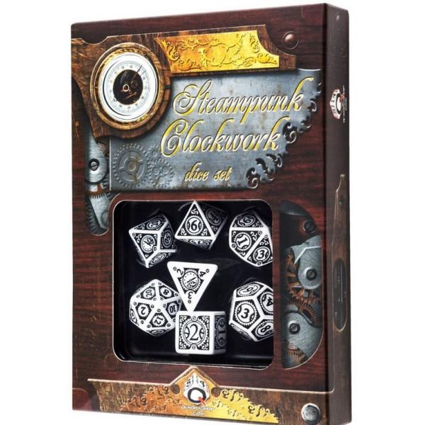 Q-Workshop - White & black Steampunk Dice Set