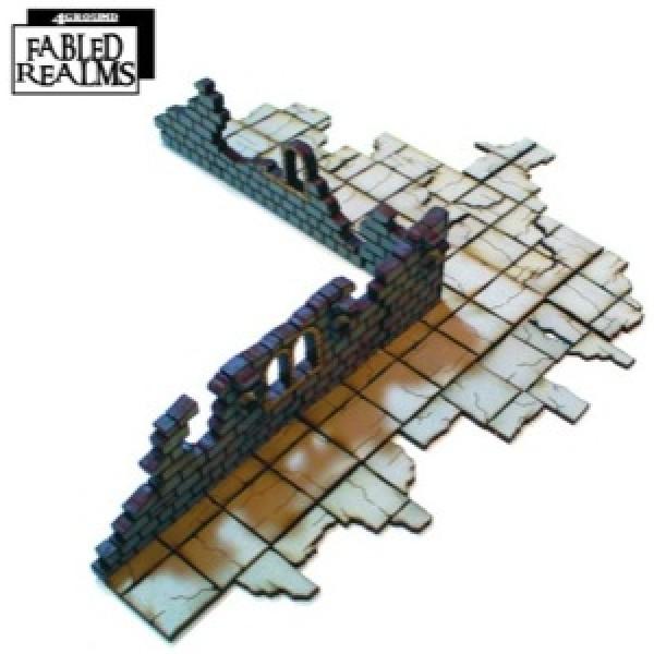4Ground Pre-Painted Terrain - Fabled realms - Corner Ruins 4: Internal Ruined Corner