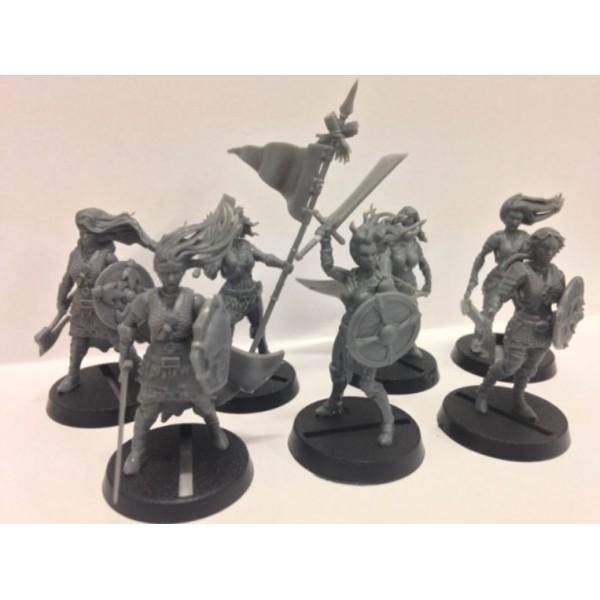 shieldwolf miniatures shieldmaiden infantry rangers dual kit. Black Bedroom Furniture Sets. Home Design Ideas