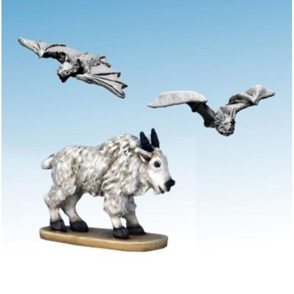 Frostgrave - Ghost Archipelago - Mountain Goat and Blood-drinker Bats