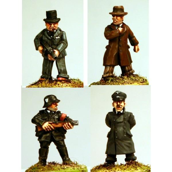Adolf & Winston with bodyguards