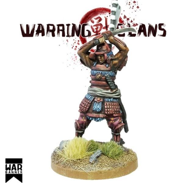 WarBanner - Samurai with Katana raised