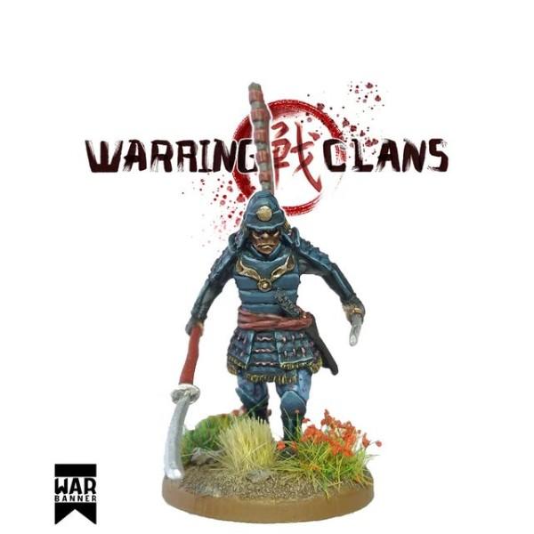 WarBanner - Samurai with Naginata and Katana