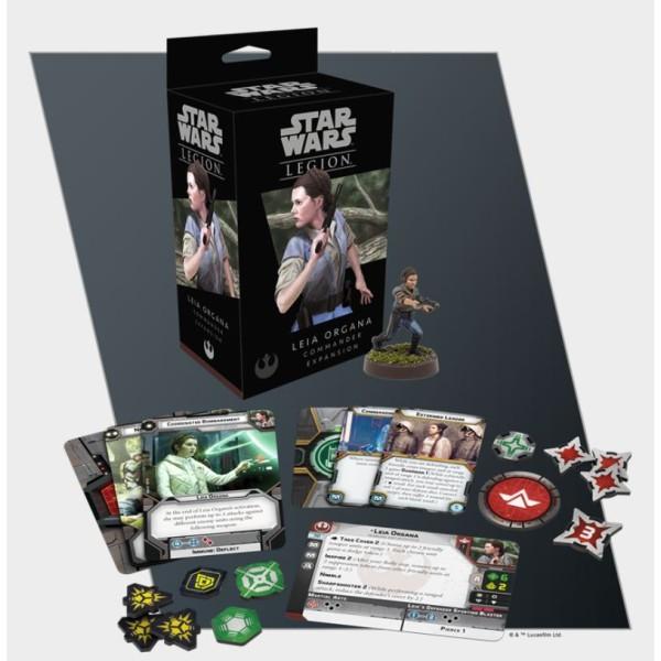 Star Wars - Legion Miniatures Game - Leia Organa Commander Expansion