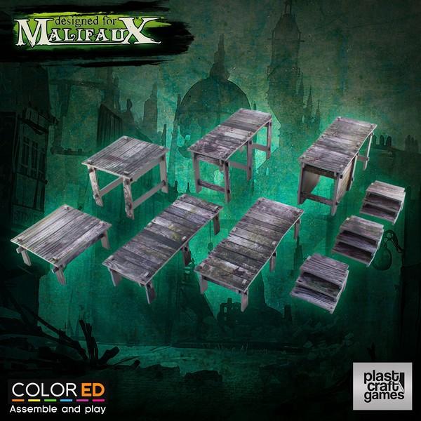 Plast Craft Malifaux Scenery - Swamp Walkway Set