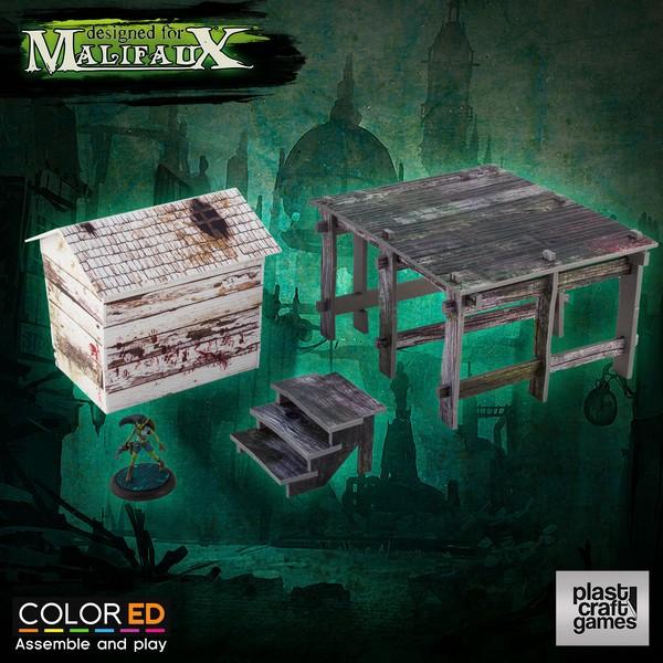 Plast Craft Malifaux Scenery - Swamp Cottage