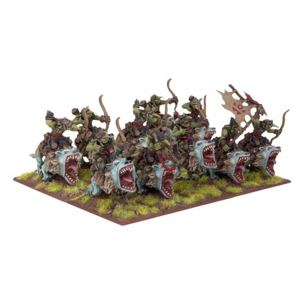 Mantic - Kings Of War - Goblin Fleabag Rider Sniffs Regiment