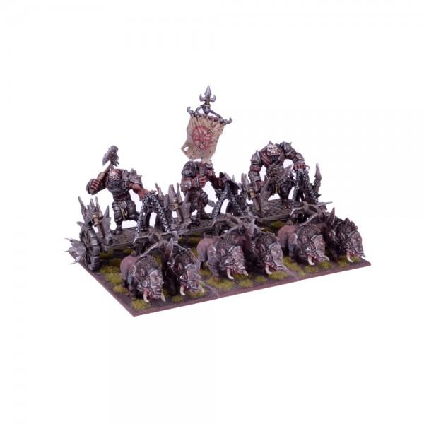 Mantic - Kings Of War - Ogre Chariot Regiment