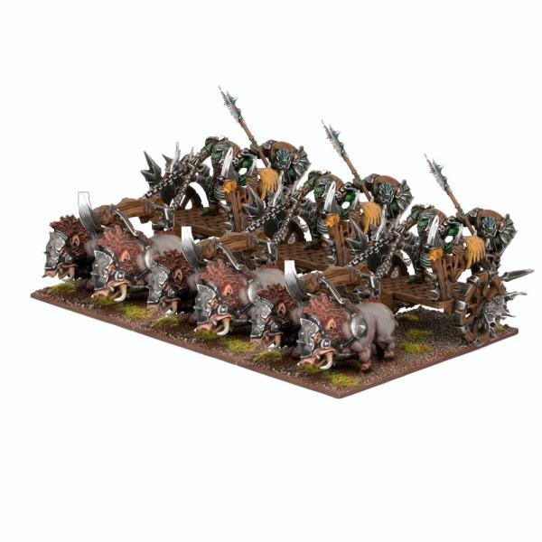 Mantic - Kings Of War - Orc Chariot Regiment