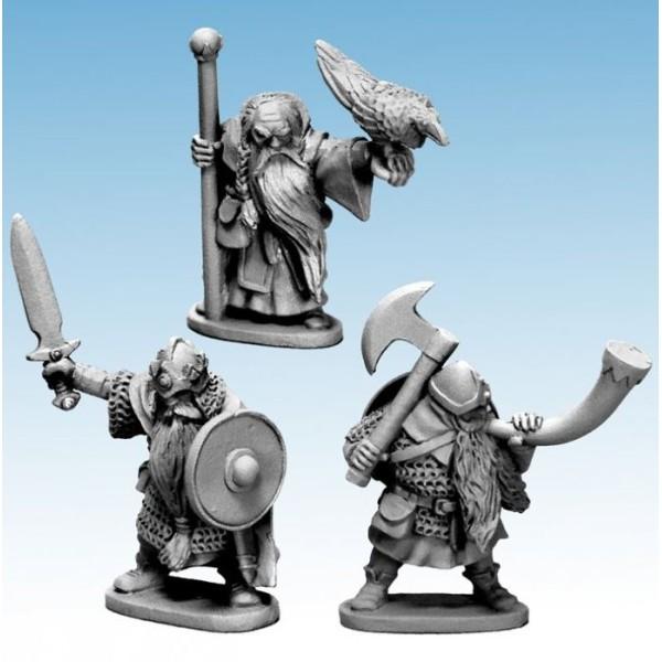 Oathmark - Dwarf Infantry - King, Wizard, Musician (Metal)