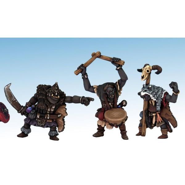 Oathmark - Goblin Infantry - Great Goblin, Shaman, Drummer