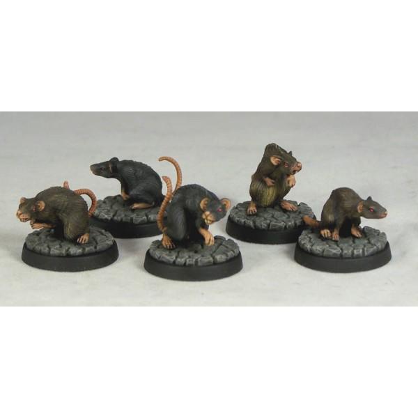 Otherworld Miniatures - Giant Rats (5)