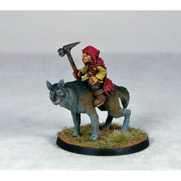 Otherworld Miniatures - Goblin Wolfrider Champion