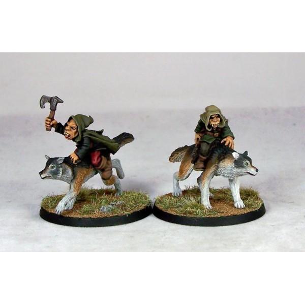 Otherworld Miniatures - Goblin Wolfriders II (2)