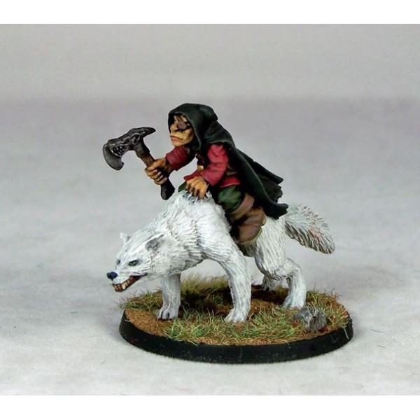 Otherworld Miniatures - Goblin Wolfrider Chieftain