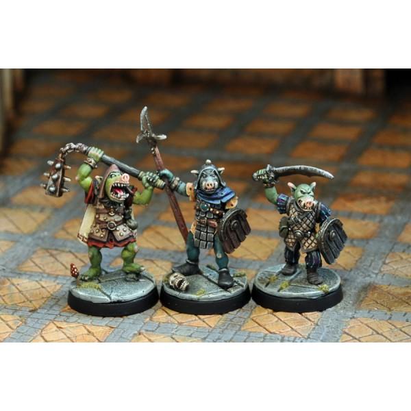 Otherworld Miniatures - Pig-faced Orc Warriors I (3)