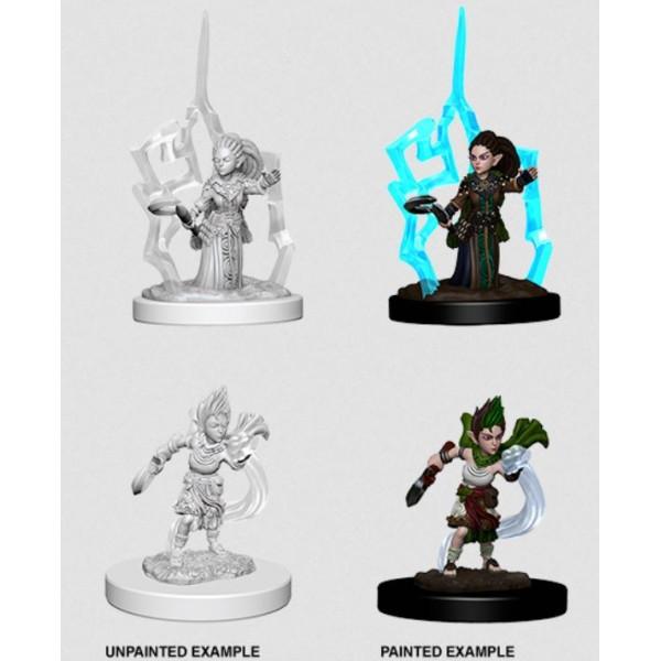 Pathfinder - Deep Cuts Unpainted Miniatures: Gnome Female Druid