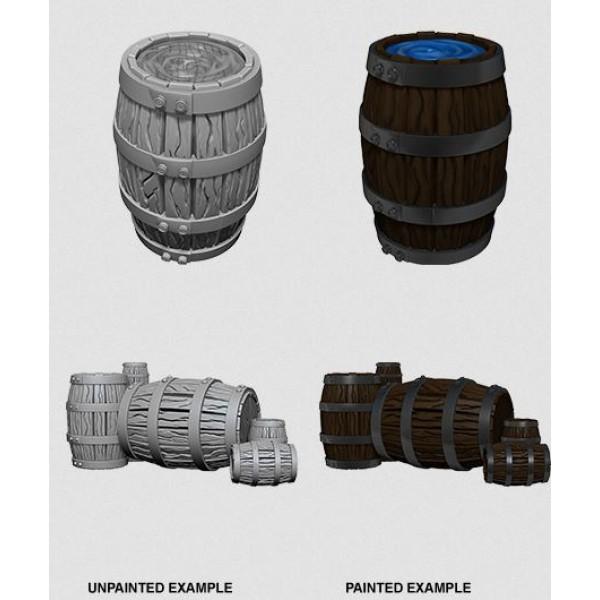 Pathfinder - Deep Cuts Unpainted Miniatures: Barrels & Pile of Barrels