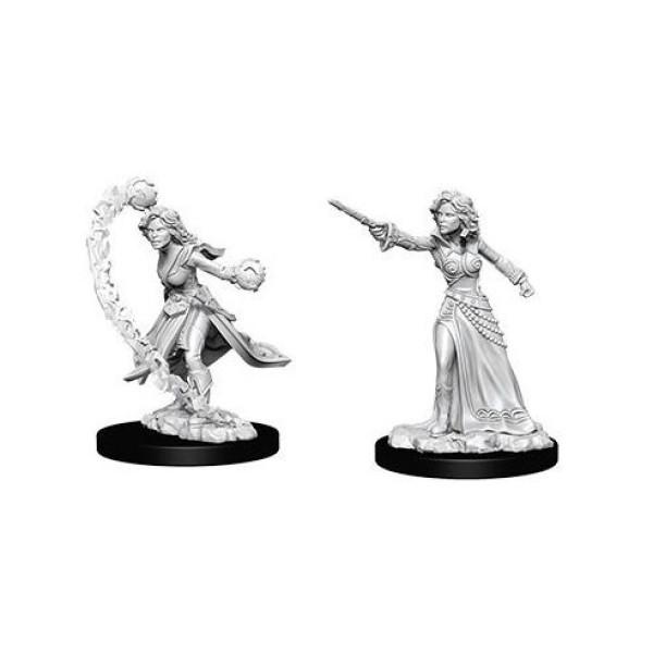 Pathfinder - Deep Cuts Unpainted Miniatures: Human Female Wizard