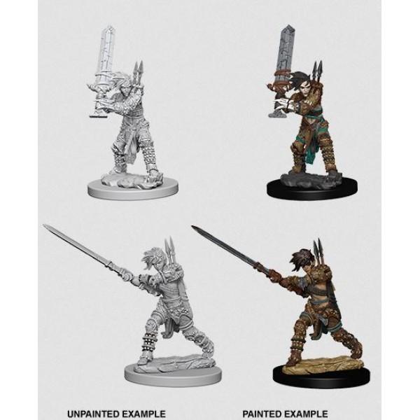 Pathfinder - Deep Cuts Unpainted Miniatures: Human Female Barbarian