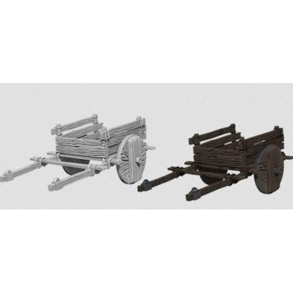 Pathfinder - Deep Cuts Unpainted Miniatures: 2 Wheel Cart