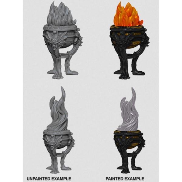 Pathfinder - Deep Cuts Unpainted Miniatures: Braziers